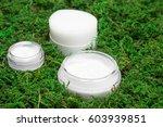 jars with moisturizing and... | Shutterstock . vector #603939851