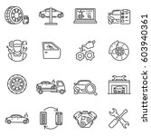 vehicle service icons set.... | Shutterstock .eps vector #603940361