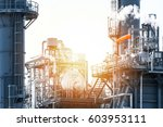 oil and gas industry refinery... | Shutterstock . vector #603953111