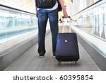 traveler with a bag on the... | Shutterstock . vector #60395854