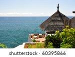 Ocean side restaurant. Tenerife, Canaries - stock photo
