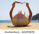 Beach Scene. Playa Teresitas....