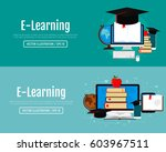 education infographic concept.... | Shutterstock .eps vector #603967511