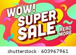 shopping banner template. sale... | Shutterstock .eps vector #603967961