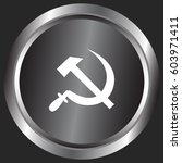 hammer and sickle isolated... | Shutterstock .eps vector #603971411