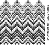 tribal zigzag geometric style.... | Shutterstock .eps vector #603972881