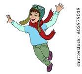 boy child pilot. vector | Shutterstock .eps vector #603979019