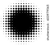 circle halftone element.... | Shutterstock . vector #603979565