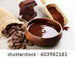 melting chocolate   melted... | Shutterstock . vector #603982181