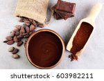 melting chocolate   melted... | Shutterstock . vector #603982211