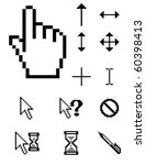 set of vector pixel cursors | Shutterstock .eps vector #60398413