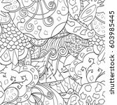 tracery seamless calming... | Shutterstock .eps vector #603985445