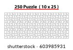 jigsaw puzzle template 250... | Shutterstock .eps vector #603985931