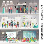 concept of big art space. art... | Shutterstock .eps vector #603988775
