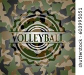 volleyball on camouflage texture | Shutterstock .eps vector #603995051