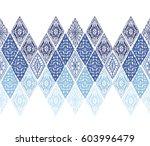 knitted seamless patterns.... | Shutterstock .eps vector #603996479