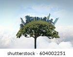 green eco life . mixed media | Shutterstock . vector #604002251