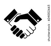 handshake business vector icon... | Shutterstock .eps vector #604002665