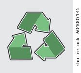 recycle symbol icon | Shutterstock .eps vector #604009145
