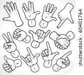 contour hands vector collection ... | Shutterstock .eps vector #60401764