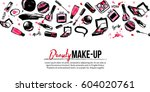 site banner template for makeup ... | Shutterstock .eps vector #604020761