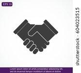 handshake icon | Shutterstock .eps vector #604023515