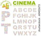 cinema. vector letter... | Shutterstock .eps vector #60402673