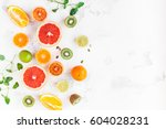 fruit background. colorful... | Shutterstock . vector #604028231