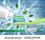 antibacterial toothpaste ads.... | Shutterstock .eps vector #604029449
