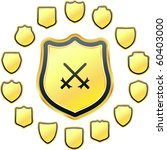 vector set of heraldic symbols | Shutterstock .eps vector #60403000