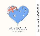 heart shape with flag of...   Shutterstock .eps vector #604033211
