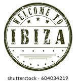 """rubber stamp """"welcome to ibiza"""" ... 
