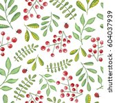 watercolor seamless pattern... | Shutterstock . vector #604037939