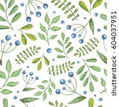 watercolor seamless pattern... | Shutterstock . vector #604037951