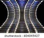 shiny backlit architectural... | Shutterstock . vector #604045427