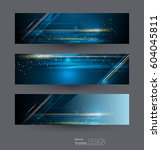 abstract banners set with image ... | Shutterstock .eps vector #604045811
