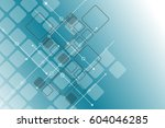 abstract technology and... | Shutterstock .eps vector #604046285