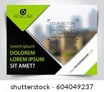 vector brochure  flyer ... | Shutterstock .eps vector #604049237