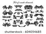set of vector graphic elements...   Shutterstock .eps vector #604054685