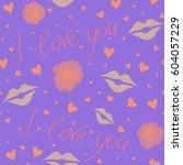 love wrapping design  romantic...   Shutterstock . vector #604057229