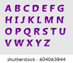 alphabet  | Shutterstock .eps vector #604063844