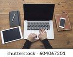 responsive design mockup | Shutterstock . vector #604067201