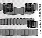 set of 3d realistic vector film ... | Shutterstock .eps vector #604068581