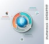 modern infographic design... | Shutterstock .eps vector #604069949