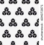 vector seamless pattern. modern ... | Shutterstock .eps vector #604072871