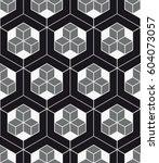vector seamless pattern. modern ... | Shutterstock .eps vector #604073057