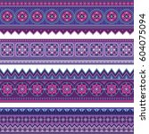 abstract ethnic stripes.... | Shutterstock .eps vector #604075094
