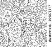 tracery seamless calming...   Shutterstock .eps vector #604075547