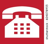 telephone icon on red background