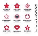 vector star icons  logo design... | Shutterstock .eps vector #604088471